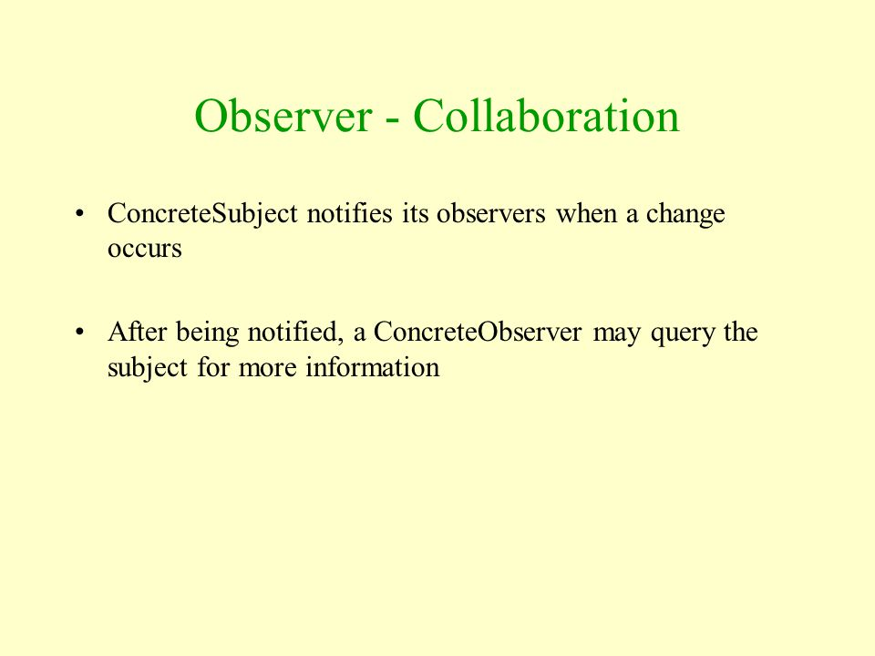 Observer - Collaboration