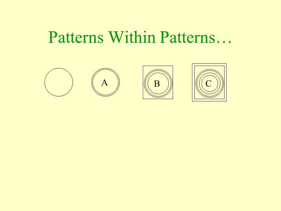Patterns Within Patterns…