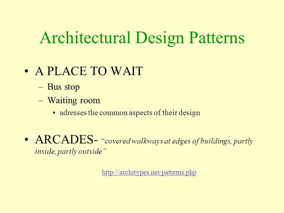 Architectural Design Patterns
