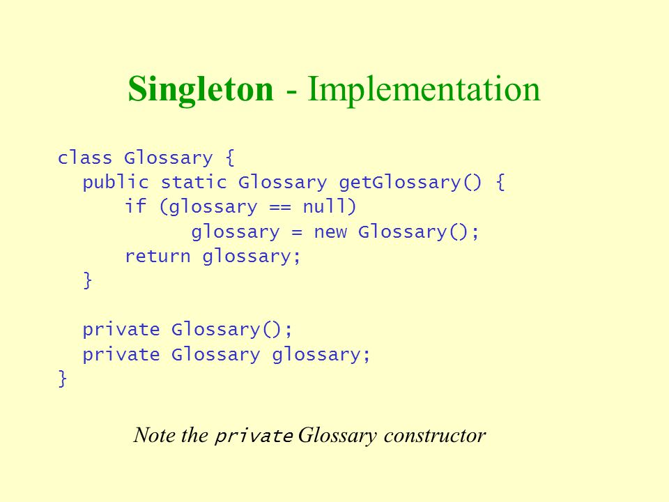 Singleton - Implementation