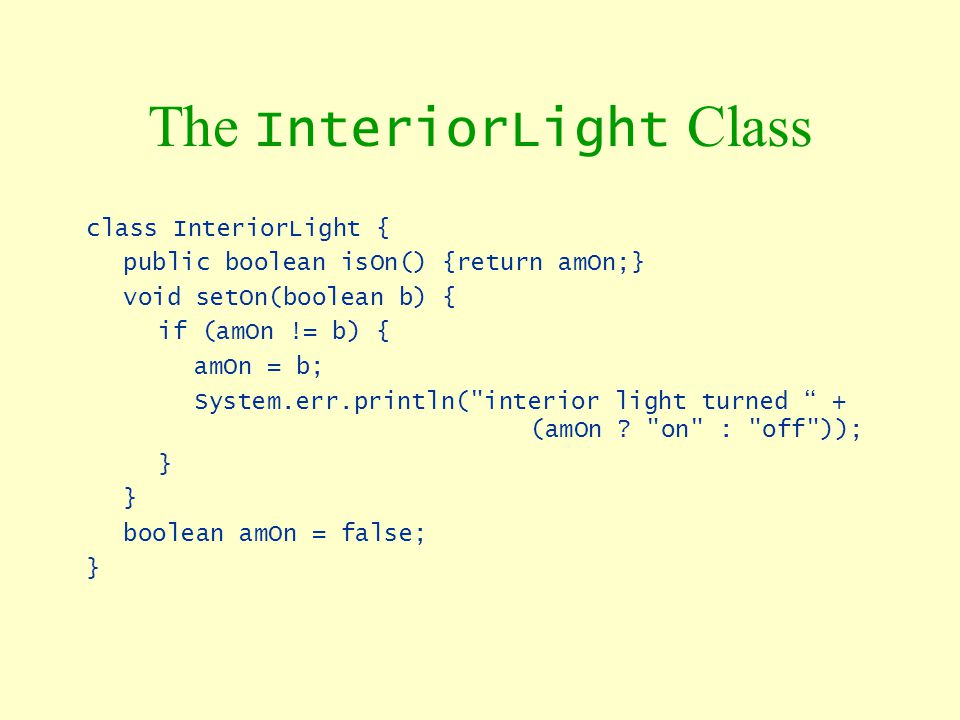 The InteriorLight Class