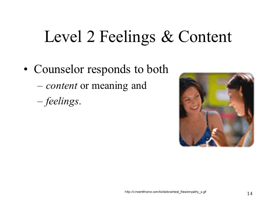 Level 2 Feelings & Content