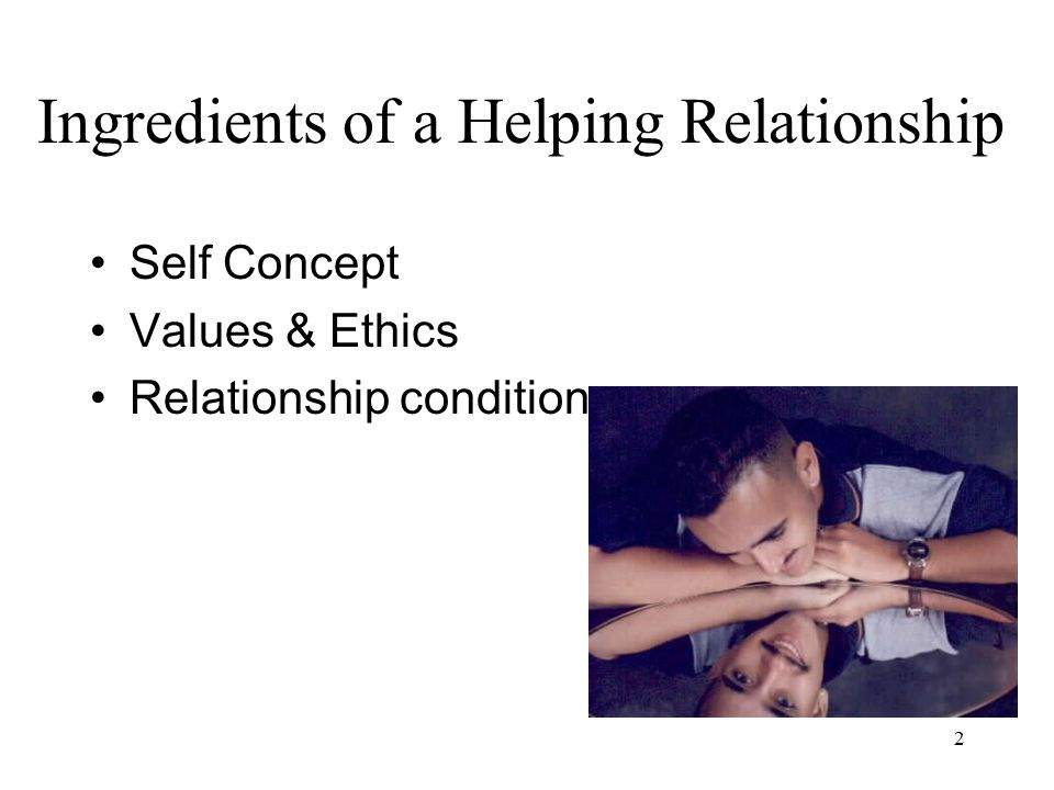 Ingredients of a Helping Relationship
