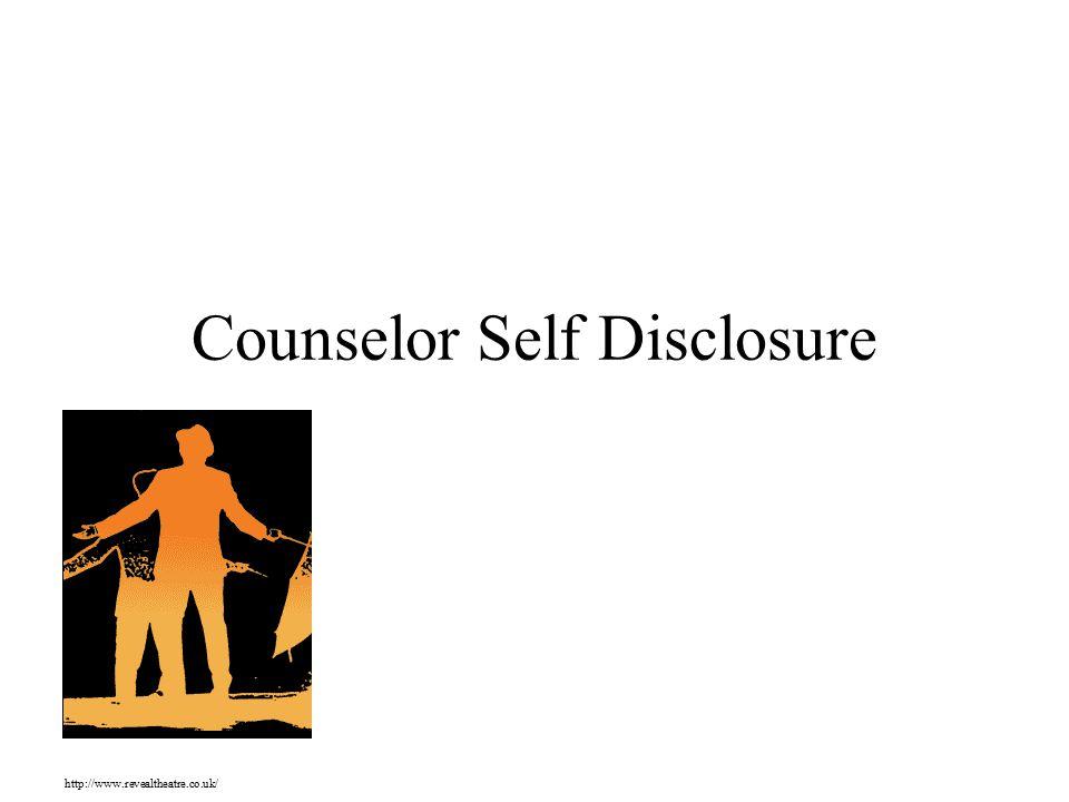 Counselor Self Disclosure