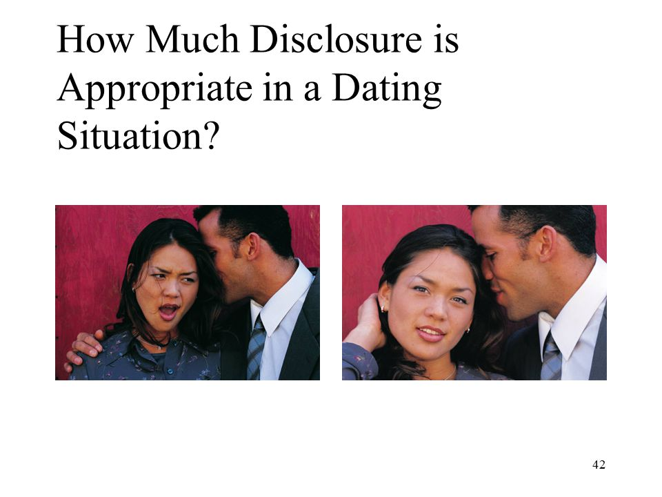 How Much Disclosure is Appropriate in a Dating Situation