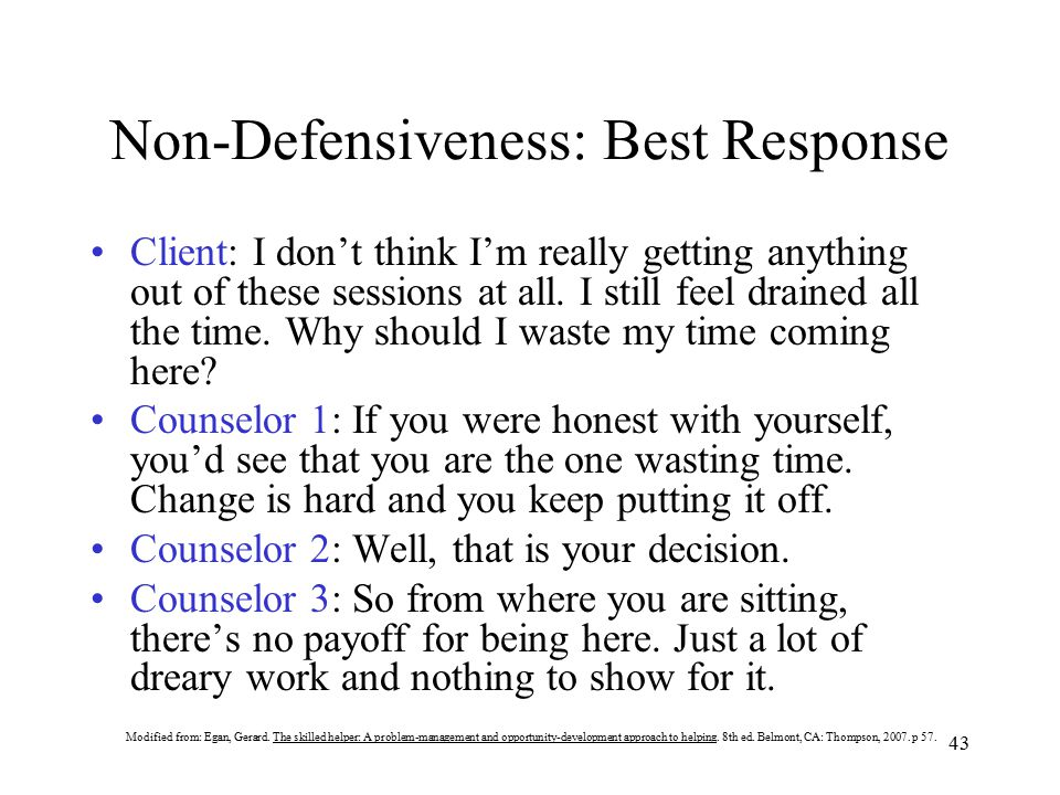 Non-Defensiveness: Best Response