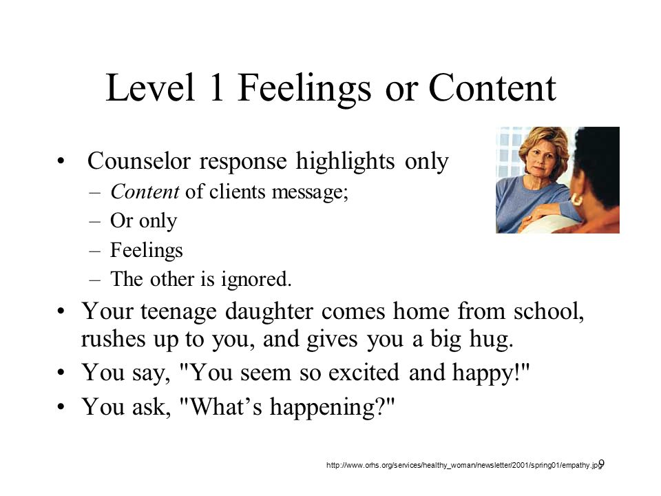 Level 1 Feelings or Content