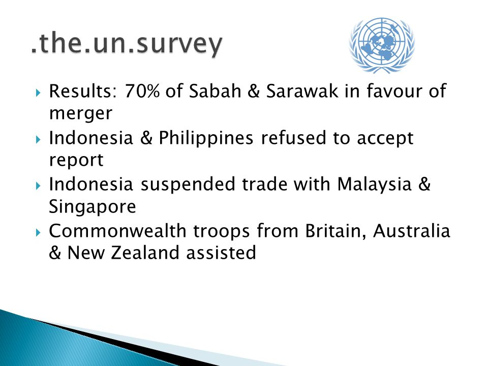 .the.un.survey Results: 70% of Sabah & Sarawak in favour of merger