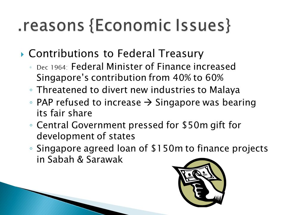 .reasons {Economic Issues}