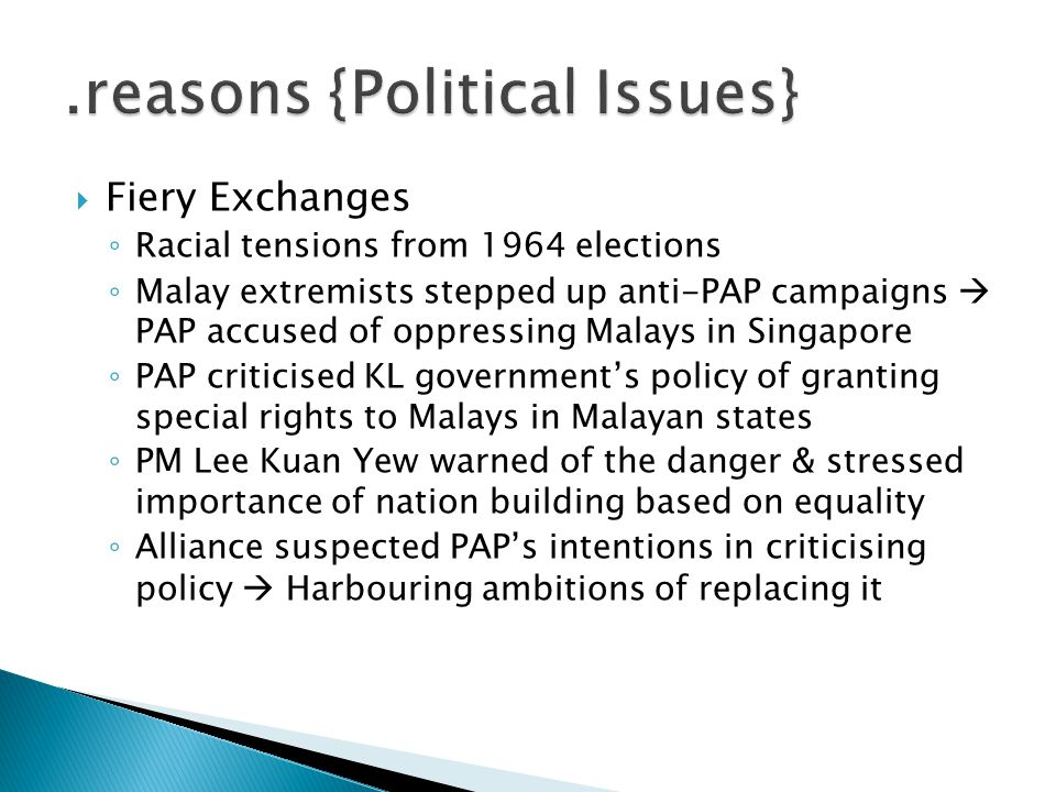 .reasons {Political Issues}