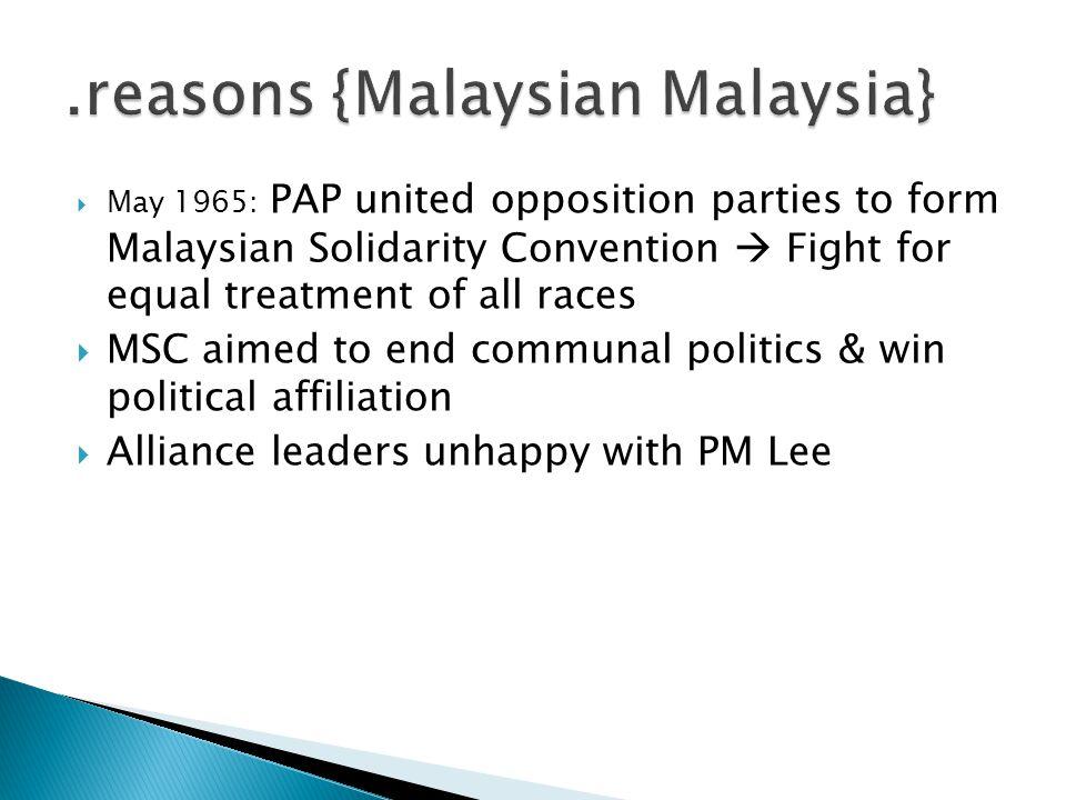 .reasons {Malaysian Malaysia}