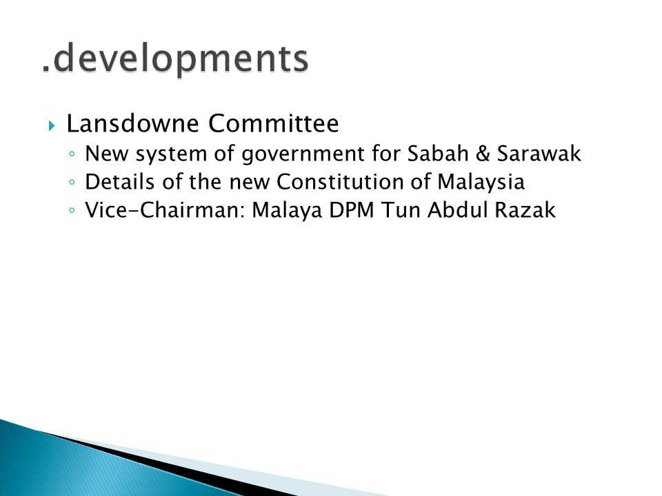 .developments Lansdowne Committee