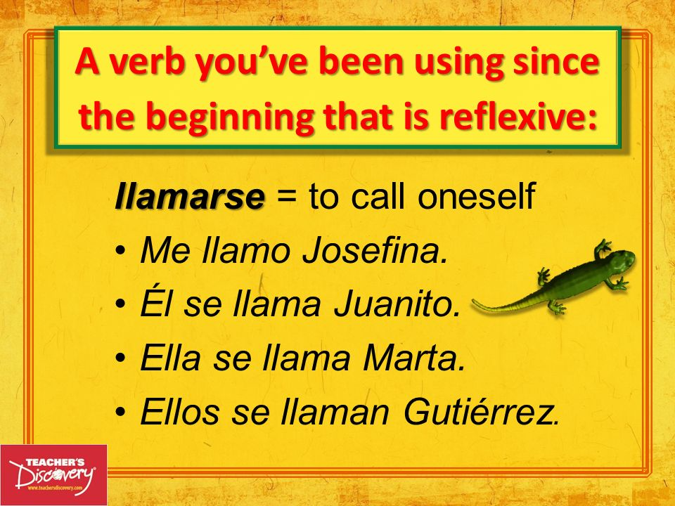 A verb you've been using since the beginning that is reflexive: