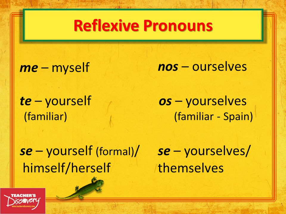se – yourself (formal)/ himself/herself