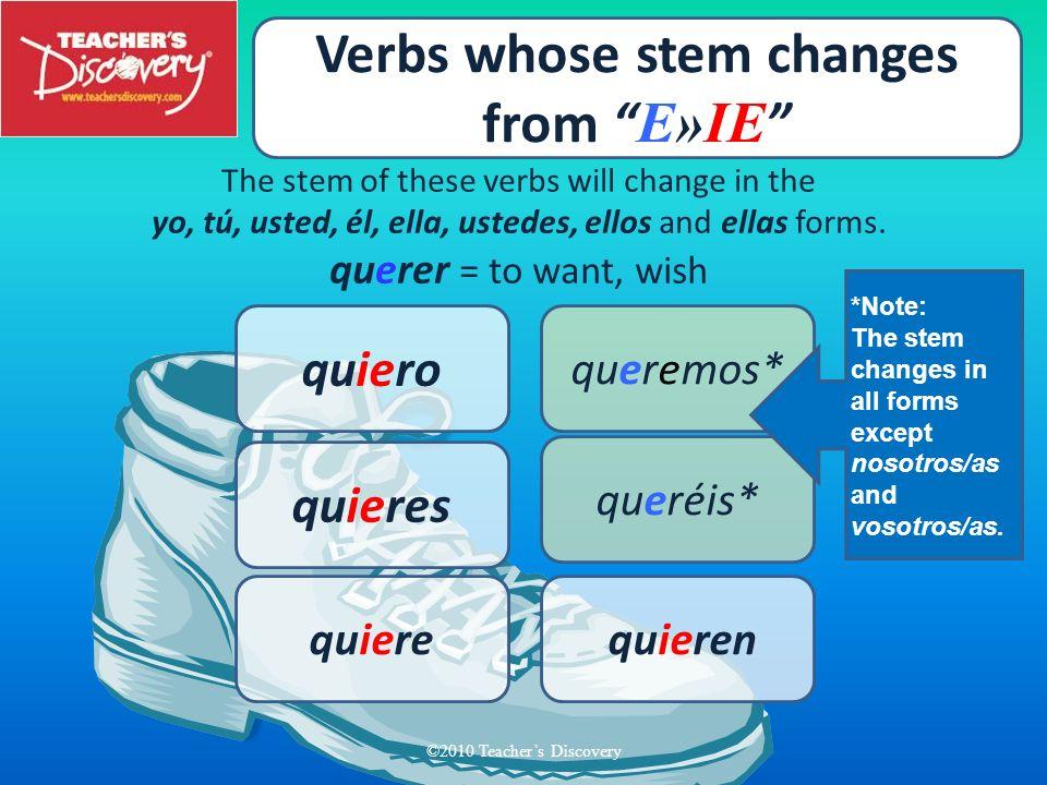 Verbs whose stem changes