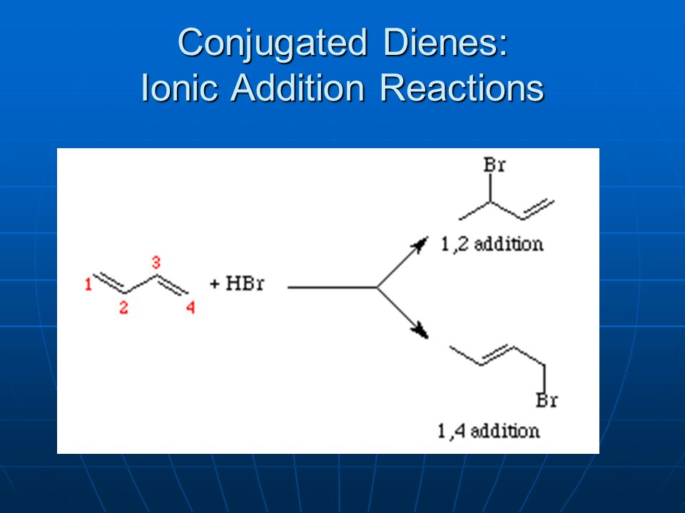 Conjugated Dienes: Ionic Addition Reactions