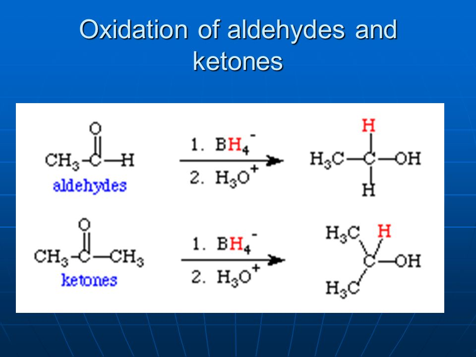 Oxidation of aldehydes and ketones