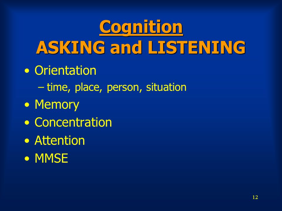 Cognition ASKING and LISTENING