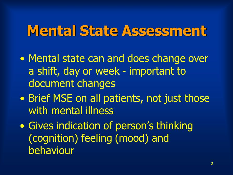 Mental State Assessment