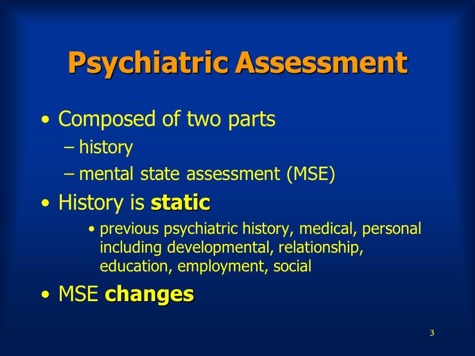 Psychiatric Assessment