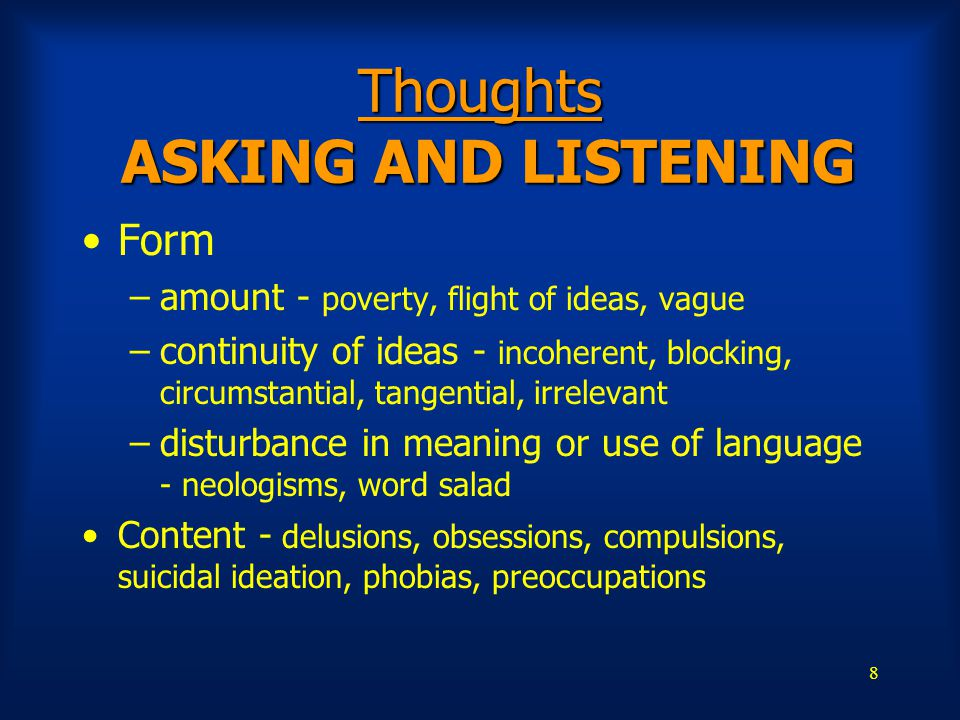 Thoughts ASKING AND LISTENING