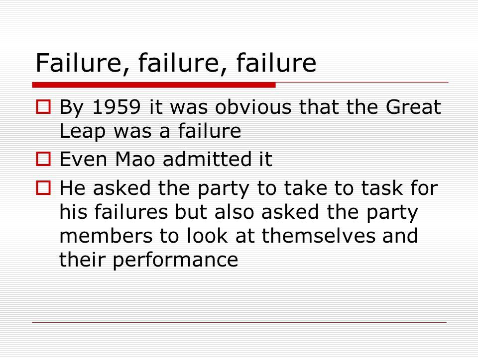Failure, failure, failure