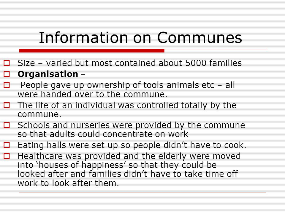 Information on Communes