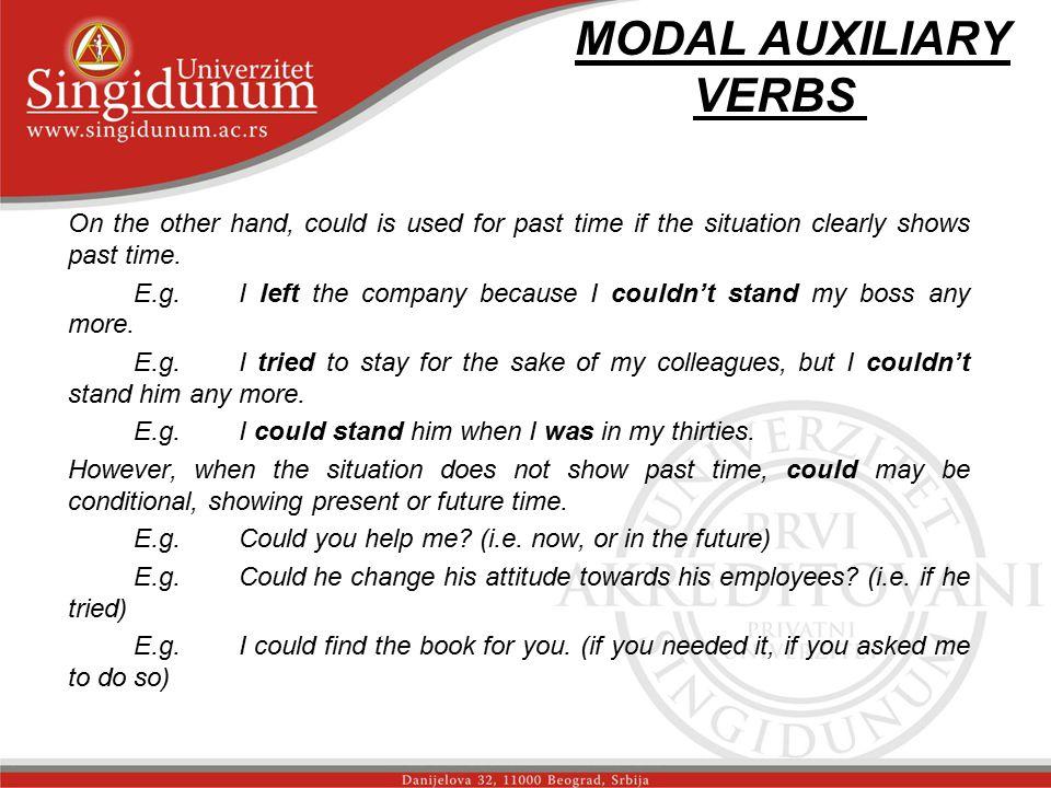 MODAL AUXILIARY VERBS str.2