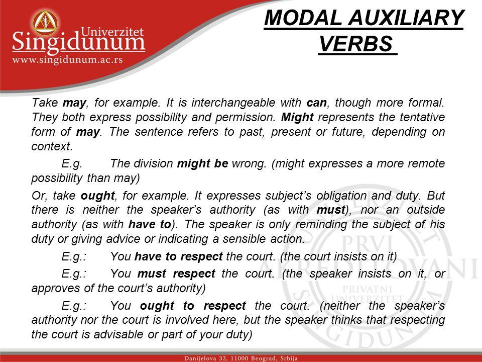 MODAL AUXILIARY VERBS str.3