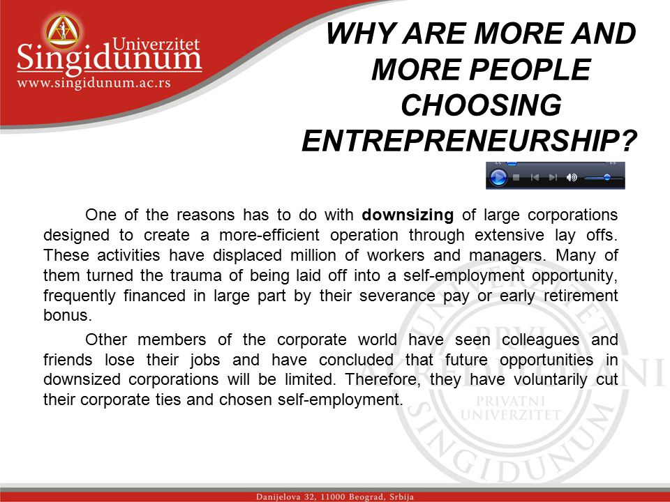 WHY ARE MORE AND MORE PEOPLE CHOOSING ENTREPRENEURSHIP Str.2