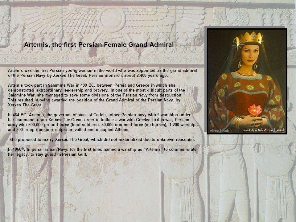 Artemis, the first Persian Female Grand Admiral