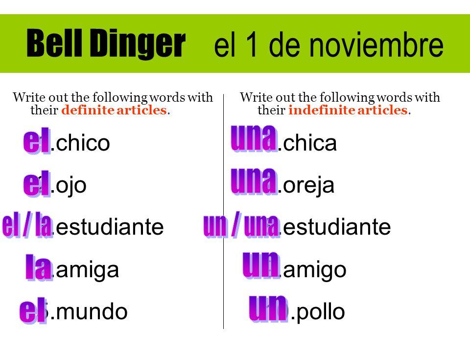 Bell Dinger el 1 de noviembre