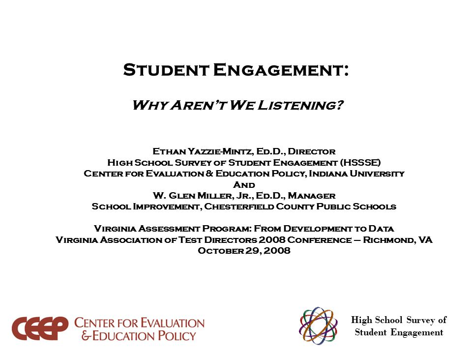 Student Engagement: Why Aren't We Listening