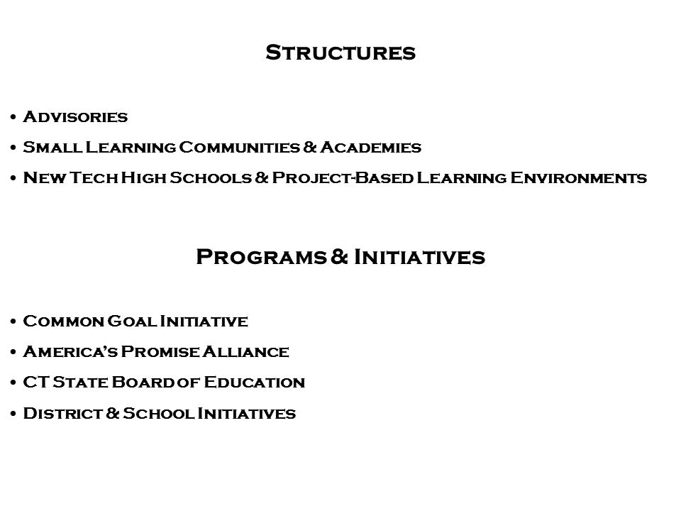 Programs & Initiatives