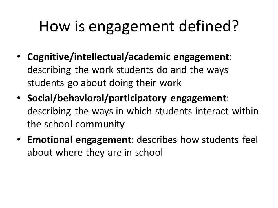 How is engagement defined