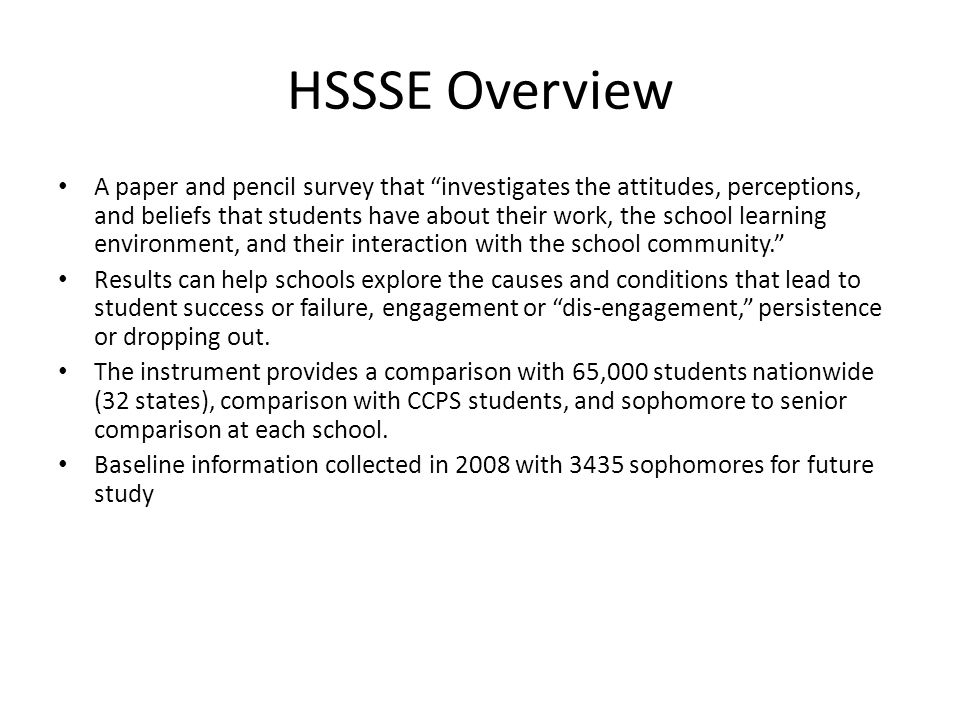 HSSSE Overview