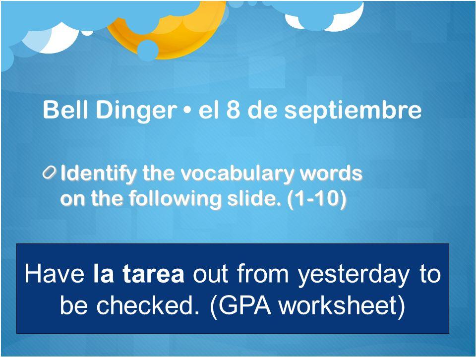 Bell Dinger • el 8 de septiembre