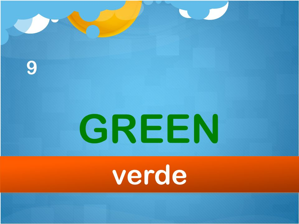 9 GREEN verde