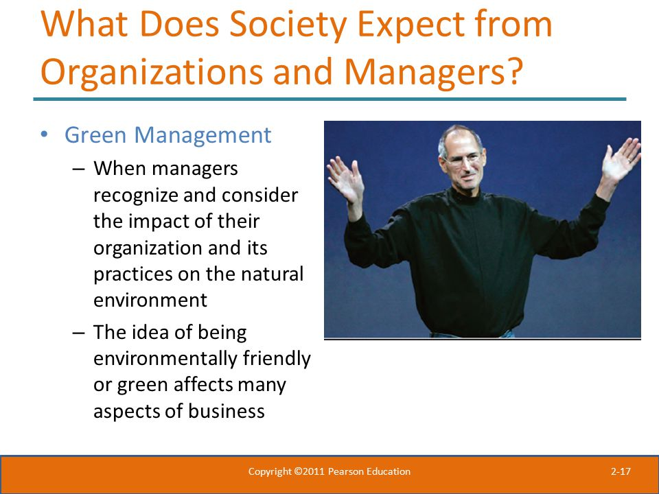 What Does Society Expect from Organizations and Managers