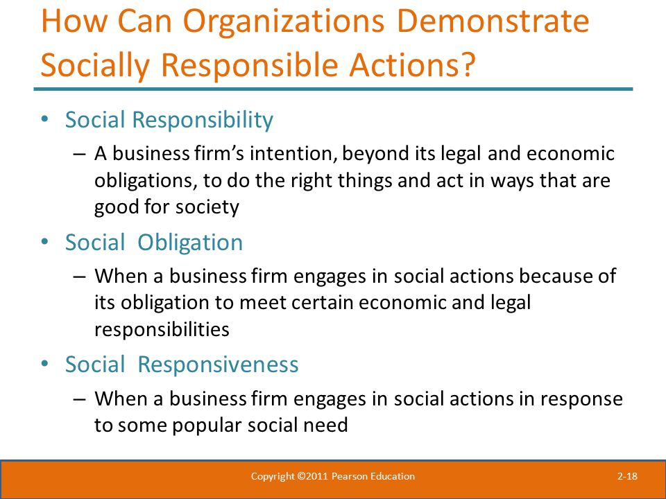 How Can Organizations Demonstrate Socially Responsible Actions