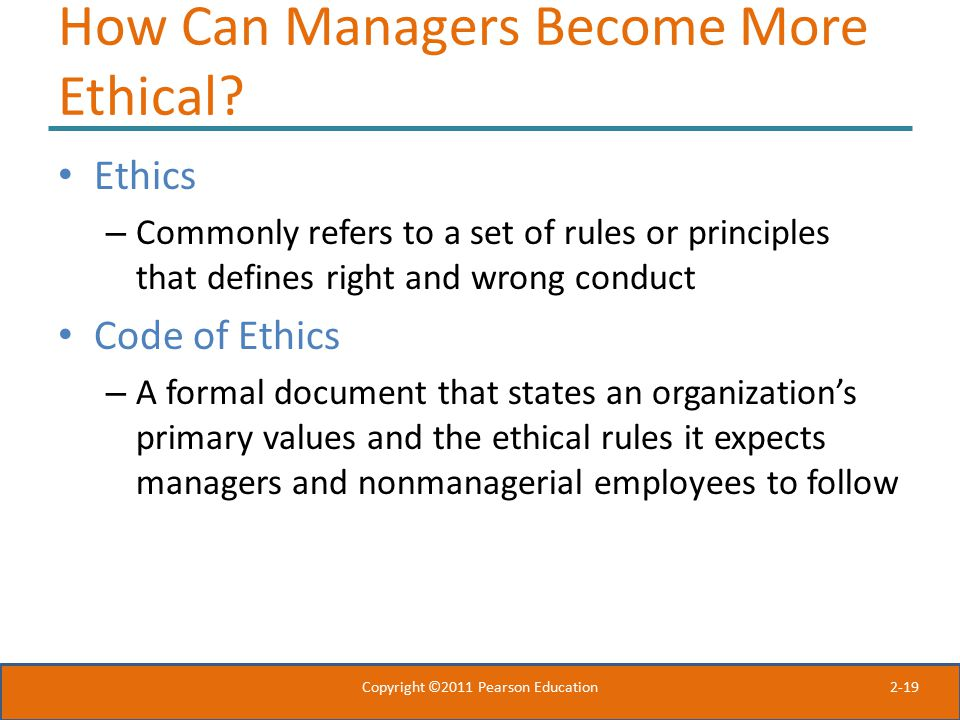 How Can Managers Become More Ethical