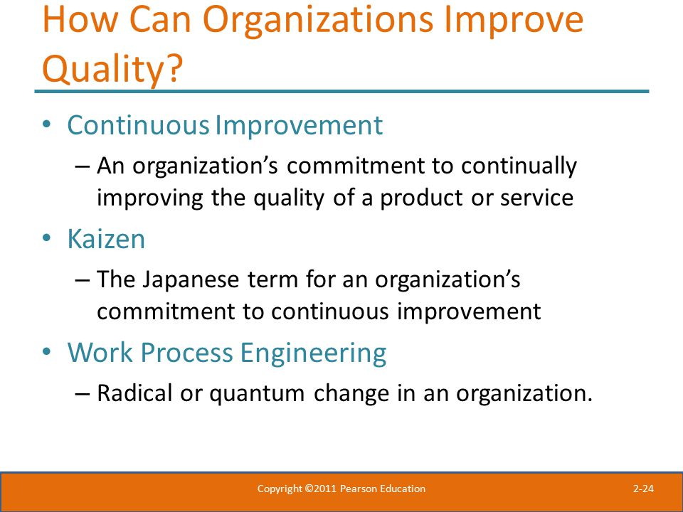 How Can Organizations Improve Quality