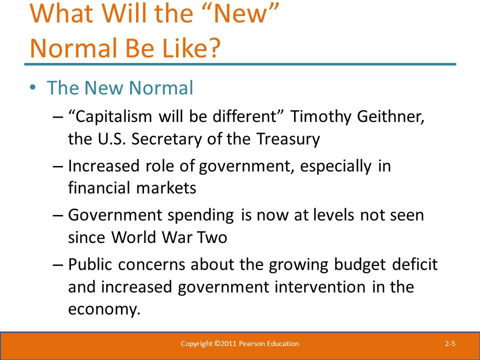 What Will the New Normal Be Like