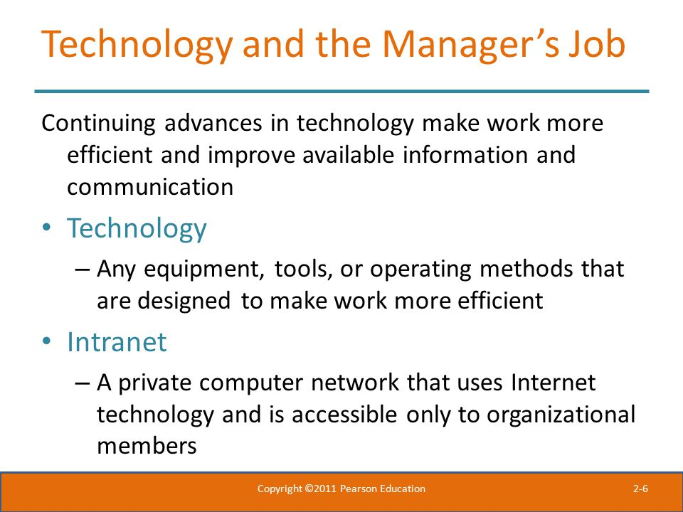 Technology and the Manager's Job