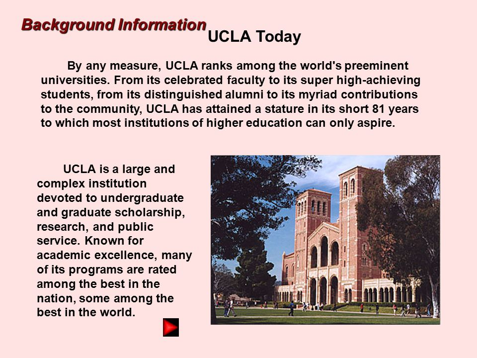 Background Information UCLA Today
