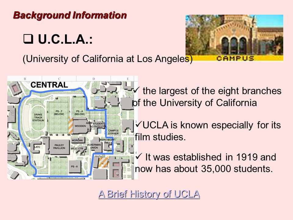 U.C.L.A.: Background Information