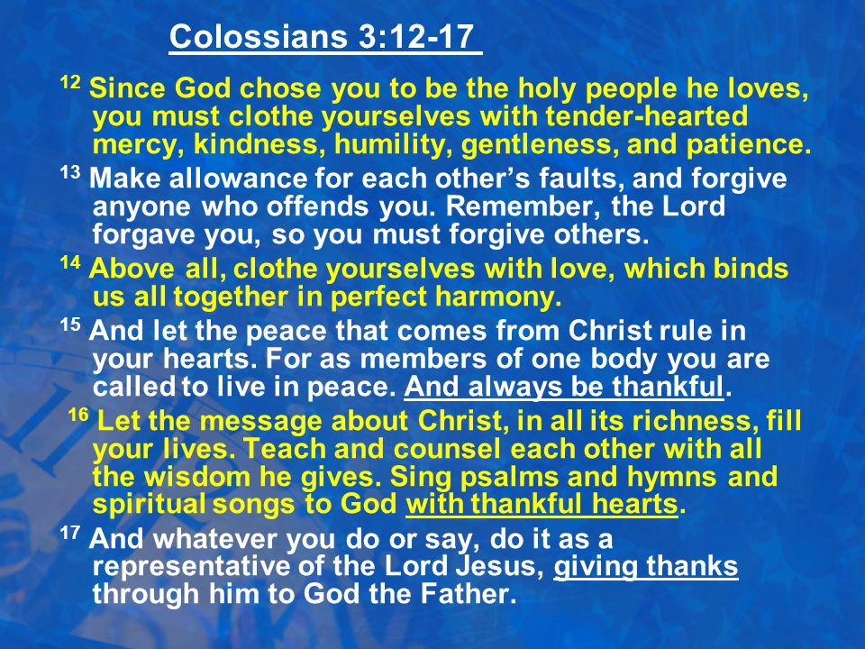 Colossians 3:12-17