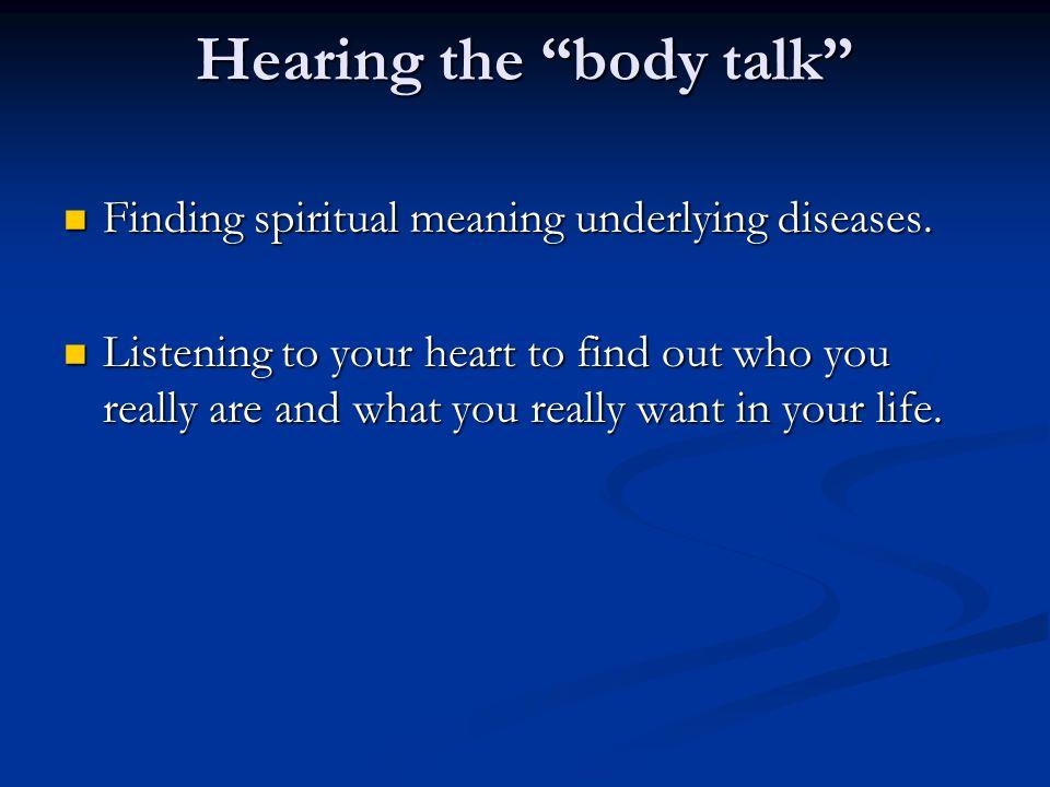 Hearing the body talk