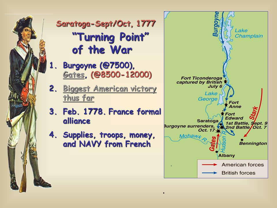 Saratoga-Sept/Oct, 1777 Turning Point of the War