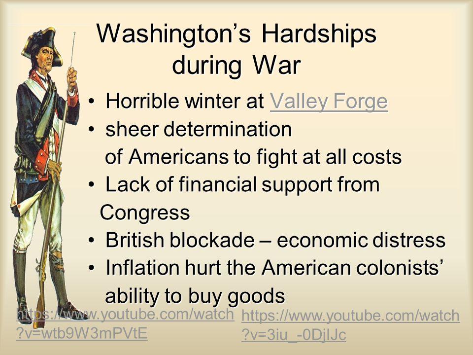 Washington's Hardships during War